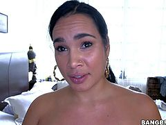 Destiny is a super sexy sexy babe from Cuba Topless brunette shows off her massive tanlined titties and then pulls down her sexy panties. Her huge bubble butt will leave you sleepless!