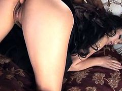 Zealous curvy brunette Mya Luanna is fucked both mish and doggy styles