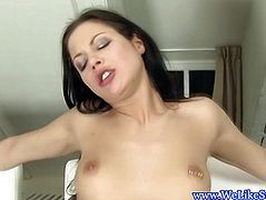 Blowjob loving girlfriend with pussy piercing