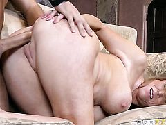 Keiran Lee uses his rock solid love torpedo to make Darla Crane with gigantic tits happy