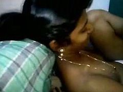 Spoiled black haired Indian GF gets mouthfucked by her lewd boyfriend