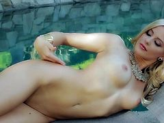 Visit official Playboy's HomepageCute Audrey Aleen Allen loves to undulate her nude body and gently touch her forms during superb outdoor solo posing