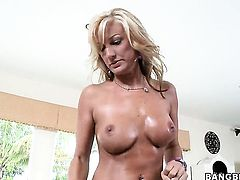 Val Malone and hard dicked guy are horny for each other