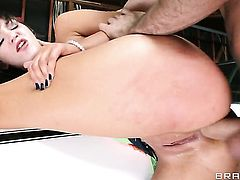 Holly Michaels lets James Deen shove his ram rod in her booty