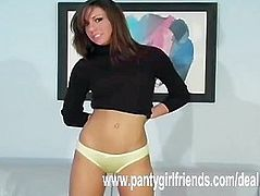Yellow panties exposed