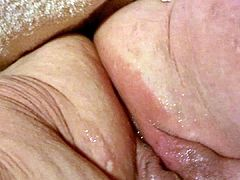 BBW Dildo and flowing juices