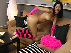 HotKinkyJo is one of the filthiest sluts on planet earth today. This slut just loves playing with her asshole and loves stuffing it with the weirdest objects! Watch how her ass swallows a big load of candy, eats a gigantic dildo and taking her whole fist! She would do amazing on parties!