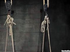 Two oversexed bondage babes are ready for pussy punishment