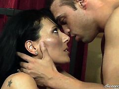 Zoey Holloway getting mouth fucked rough by Rocco Reed