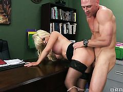 Johnny Sins plays hide the salamy with Alexis Ford with giant boobs