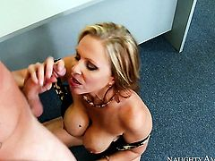 Julia Ann gets impaled on Van Wyldes cock