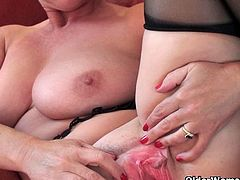 Britain's most sexiest grannies masturbating in front of the camera.See how these hairy, big asses and big titties grannies stripp of their clothes and showing you there hot assets in here!