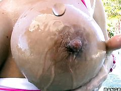 Glamorous harlot Nikki Sexx with big ass gets her back swing used before getting orgasm