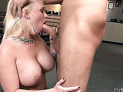 Angel Vain and hot fuck buddy are so fucking horny in this cock sucking action