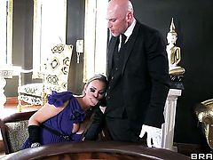 Johnny Sins has a great time banging Abbey Brooks with gigantic jugs
