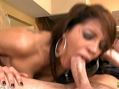 Francesca Le enjoys meaty cock