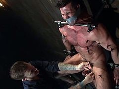 Christian does not have sex the normal way and his boyfriend, Billy, is well aware of that. That's why when he meets Billy in a dungeon, he is struck by a great idea, that could make it exciting for the both of them. He ties billy up, tapes his mouth with a duct tape and makes sure no one knows about their little sex experiment.