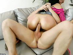 Teen exotic breathtaker sticks dudes fuck stick up her snatch in one-on-one hardcore sex action