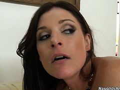 Dane Cross stretches fascinating India Summers vagina with his sturdy love stick to the limit