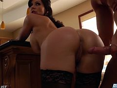 Eat Sleep Porn brings you a hell of a free porn video where you can see how the busty brunette milf Kendra Lust gets banged hard and deep into a breathtaking orgasm.