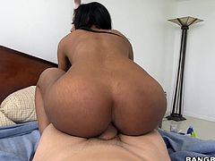 The perfect ebony maid can really ride a dick like a pro