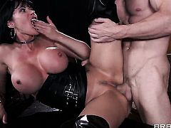 Johnny Sins fucks fascinating Eva Kareras beautiful face with his snake