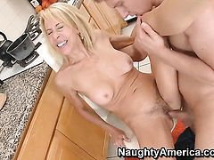 Danny Wylde has a great time fucking Erica Lauren with tiny tits