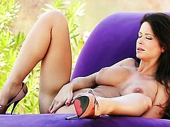 Emily Addison proves that her body is perfect as she masturbates completely naked