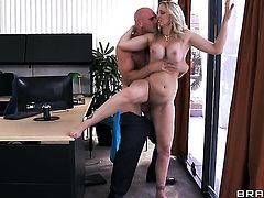 Johnny Sins cant resist extremely hot Julia Anns attraction and bangs her mouth like crazy
