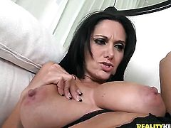 Mature tramp Jelena Jensen is in the mood for masturbating