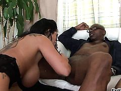 Sienna West finds it exciting to be face fucked by Sean Michaels in front of the camera