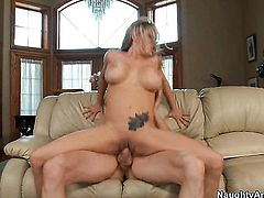 Jordan Ash gets his always hard love stick used by Briana Banks with juicy breasts and clean pussy
