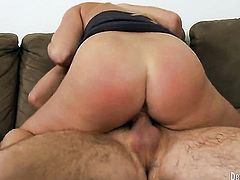 Dane Cross makes his rock hard love stick disappear in sex hungry Britney Ambers mouth
