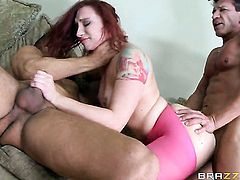Marco Banderas explores the depth of yummy Sophia Lockes anal hole with his cock