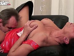 Zolitaire gets her freak on and lets a complete stranger fuck her brains out and cum between her tits.