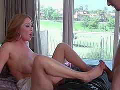 Kianna Dior is a real blonde slut with big massive tits and shes going to get just as massive junk in her mouth and cunt until she learns to keep her mouth closed.