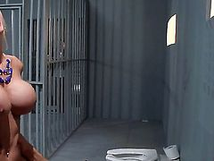 Johnny Sins has ended up in prison and now hes very lonely. He hadnt had pussy in a long time but along comes Nina Elle to surprise him with her shaved cunt.