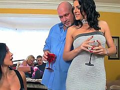 Couple of guys got together with their hot wives who have stunning bodies and big tits and they agreed to bang each others wives like crazy mofos. The wives look forward to it.