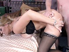 Charlee Chase just loves to suck and cant say No to hard cocked dude Dane Cross