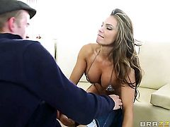 Danny D sticks his boner in devilishly sexy Esperanza Gomezs mouth