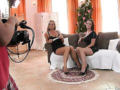 Cindy Dollar gets turned on and then tongue fucked by her lesbian lover Silvia Saint