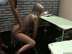 Blonde Barbie White knows no limits when it comes to licking Mandy Brights snatch