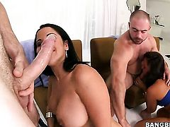 Diamond Kitty and Nikki Lavay in a foursome