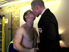 If you're keen on man on man action, don't miss the sexy scenes in this video! Two horny gay guys with British accent get loose after the night falls. As they live under the same roof, it's not hard to meet and spend inciting moments of lust, when everyone else is gone to bed. See naughty Gabriel sucking cock!