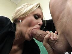 Julia Ann with juicy knockers getting down and nasty in hardcore sex action with Billy Glide