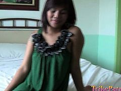 A tattooed Filipina blows a guy's dick. The atmosphere gets soon hotter, as she gets naked and begins to ride it. Hear her screaming of pleasure, when the horny man pounds her hard from behind. The lovely bitch seems to appreciate the reverse cowgirl position, which allows you to admire her adorable tits.