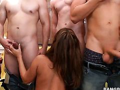 Pornstars at a college party - group sex