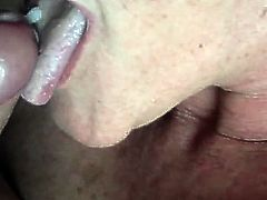 mature amateur suck and swallow