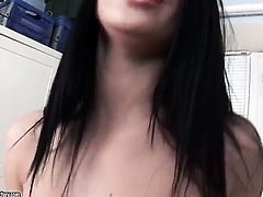 Mya Dark finds herself horny as hell and takes toy in her wet hole