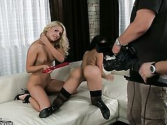 Blonde porn diva Brandy Smile and Ruth Medina both have great lesbian sex experience